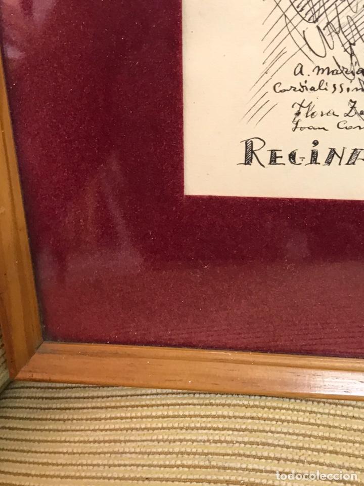 "Arte: Dibujo a la tinta firmado por JOAN COMMELARAN CARRERA titulado ""Regina in caeli asumpta"" 1955 - Foto 13 - 210219125"