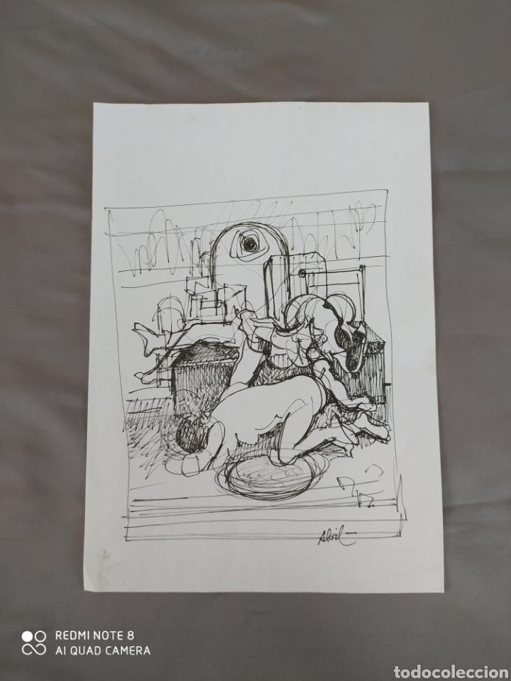 DIBUJO A TINTA (Arte - Dibujos - Contemporáneos siglo XX)