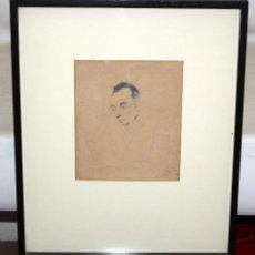 Arte: ANTONI CLAVÉ - PORTRAIT DE MARTIN VIVES - PERPIGNAN - 1939.. Lote 210222026