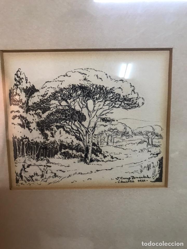 Arte: Dibujo a la tinta firmada por J CAMP DOMENECH - Foto 5 - 210224710