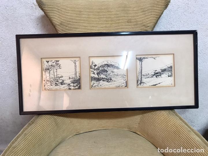DIBUJO A LA TINTA FIRMADA POR J CAMP DOMENECH (Arte - Dibujos - Contemporáneos siglo XX)