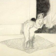 Arte: JORGE CASTILLO CASALDERREY (PONTEVEDRA, 1933) TECNICA MIXTA PAPEL DEL AÑO 1962. ESCENA EROTICA. Lote 210383597