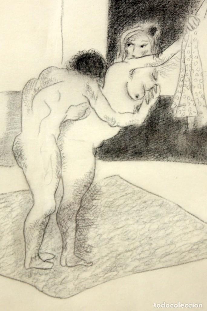 Arte: JORGE CASTILLO CASALDERREY (Pontevedra, 1933) TECNICA MIXTA PAPEL DEL AÑO 1962. ESCENA EROTICA - Foto 3 - 210383597