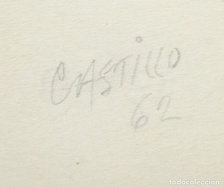 Arte: JORGE CASTILLO CASALDERREY (Pontevedra, 1933) TECNICA MIXTA PAPEL DEL AÑO 1962. ESCENA EROTICA - Foto 5 - 210383597