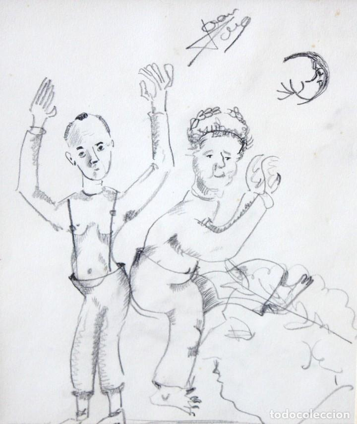 JOAN PONÇ BONET (BARCELONA, 1927 - SAINT-PAUL-DE-VENCE, FRANCIA, 1984) DIBUJO A LAPIZ. (Arte - Dibujos - Contemporáneos siglo XX)