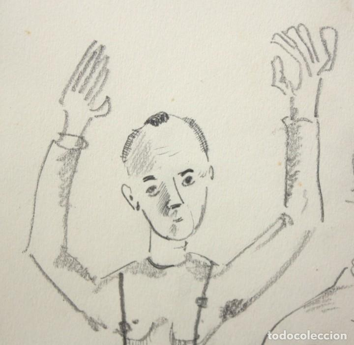 Arte: JOAN PONÇ BONET (Barcelona, 1927 - Saint-Paul-de-Vence, Francia, 1984) DIBUJO A LAPIZ. - Foto 4 - 210385172