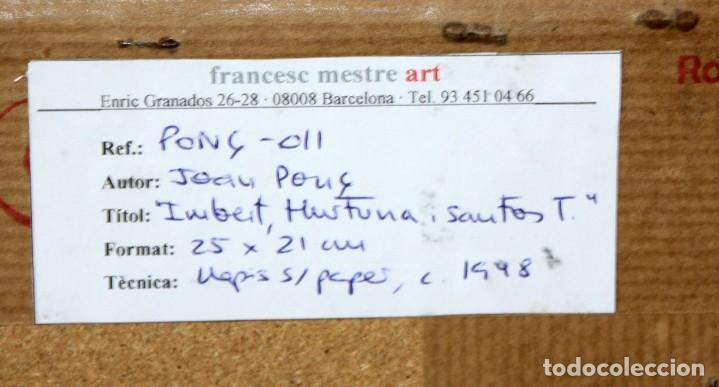 Arte: JOAN PONÇ BONET (Barcelona, 1927 - Saint-Paul-de-Vence, Francia, 1984) DIBUJO A LAPIZ. - Foto 8 - 210385172