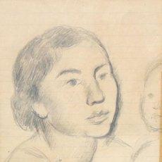 Arte: JOAQUIM SUNYER I DE MIRO (SITGES, 1874 - 1956) DIBUJO A LAPIZ. MATERNIDAD. Lote 210389585