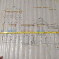Arte: DIBUJO LINEAL DE PROYECTO CASA PALACIO, ARQUITECTO JOAQUÍN ARACIL.. Lote 210594175
