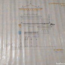 Arte: DIBUJO LINEAL DE PROYECTO CASA PALACIO, ARQUITECTO JOAQUÍN ARACIL.. Lote 210594656