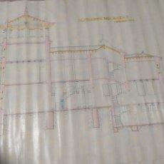 Arte: DIBUJO LINEAL DE PROYECTO CASA PALACIO ARQUITECTO JOAQUÍN ARACIL.. Lote 210594867