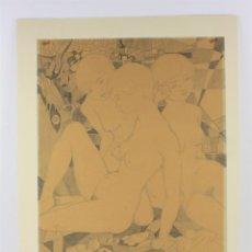 Arte: TRES MUJERES, BONITO DIBUJO SOBRE PAPEL, ARTISTA POR IDENTIFICAR, SIN FIRMAR. 44X32CM. Lote 210731625