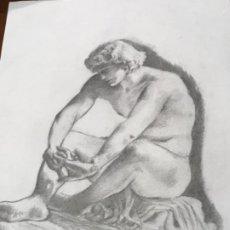Arte: DIBUJO A LÁPIZ TORSO MASCULINO, DESNUNO.. Lote 210761145