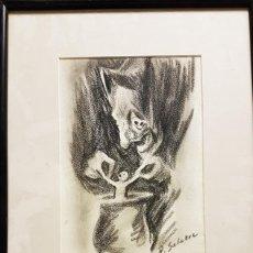 Arte: DANIEL SABATER (VALENCIA 1888- BARCELONA 1951) BRUJA ,CARBONCILLO / PAPEL 23 X 16 AÑOS 30. Lote 210961734