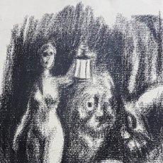 Arte: DANIEL SABATER (VALENCIA 1888- BARCELONA 1951) FANTASMAS ,CARBONCILLO / PAPEL 23 X 16 AÑOS 20- 30. Lote 210961955