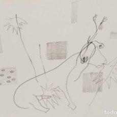 Arte: OSWALD OBERHUBER DIBUJO ENMARCADO 1986 FIRMADO Y FECHADO. Lote 210963126