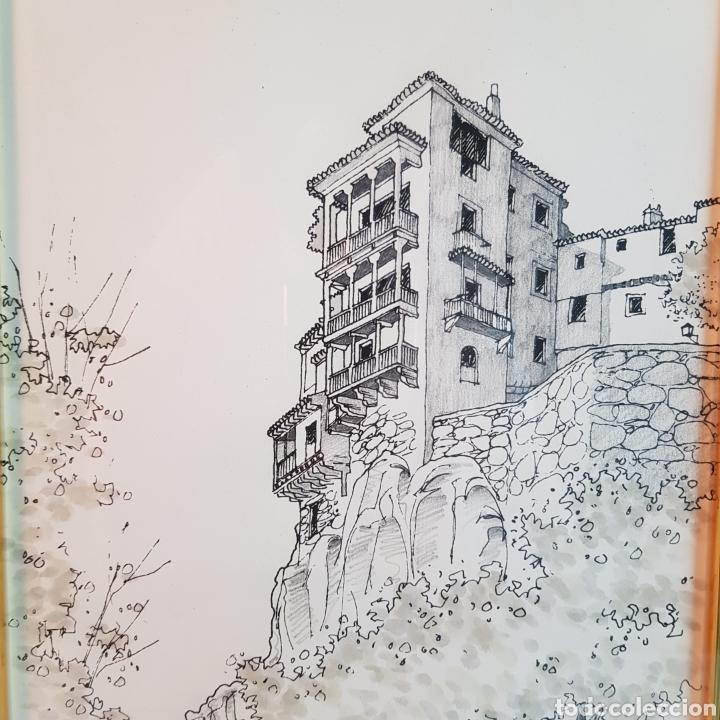 LAS CASAS COLGANTES DE CUENCA POR CASALDERREY (Arte - Dibujos - Contemporáneos siglo XX)