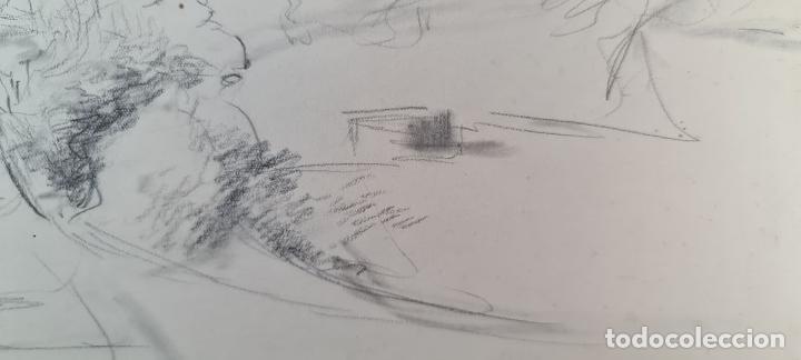 Arte: PAISAJE. DIBUJO AL GRAFITO SOBRE PAPEL. ATRIB. FRANCISCO DOMINGO. SIGLO XX. - Foto 3 - 211259307