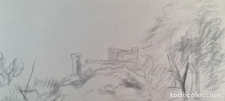 Arte: PAISAJE. DIBUJO AL GRAFITO SOBRE PAPEL. ATRIB. FRANCISCO DOMINGO. SIGLO XX. - Foto 5 - 211259307