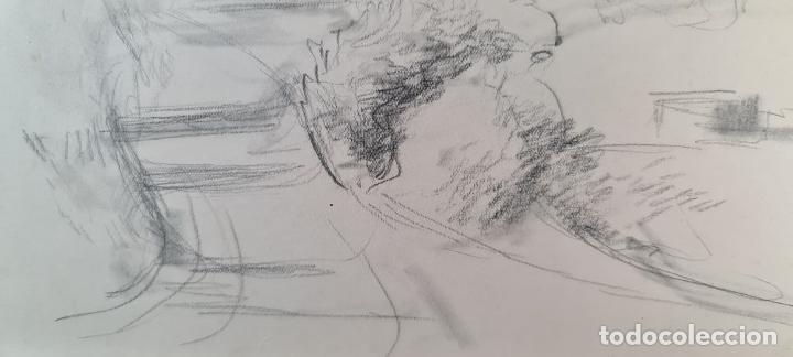 Arte: PAISAJE. DIBUJO AL GRAFITO SOBRE PAPEL. ATRIB. FRANCISCO DOMINGO. SIGLO XX. - Foto 8 - 211259307