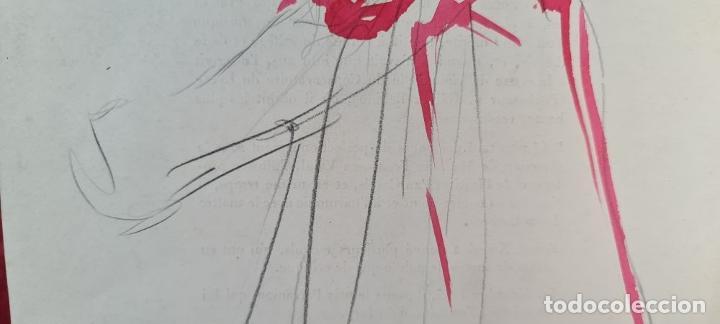 Arte: RETRATO. DIBUJO AL GRAFITO Y ACUARELA. ATRIB. FRANCISCO DOMINGO. SIGLO XX. - Foto 4 - 211260687