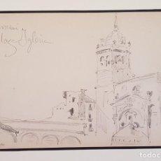 Arte: HERNANI PLAZA DE LA IGLESIA. I. ZULOAGA. Lote 211276947