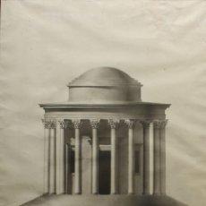 Arte: NARCIS BLADÓ (MALLORCA, C 1837 - BARCELONA 1891) TEMPLO DE VESTA EN ROMA. 1838. AGUADA. 67 X 50 CM.. Lote 180946191