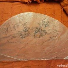 Arte: DIBUJO PUNZONADO SOBRE CALCO PARA ABANICO. Lote 211622994