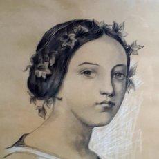 Arte: E.PEREANTON, DIBUJO CARBONCILLO 1905. Lote 211671768