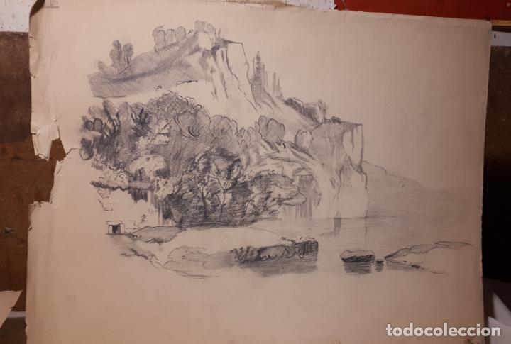 Arte: 16 DIBUJOS A LÁPIZ DE 1901. - Foto 3 - 211823437