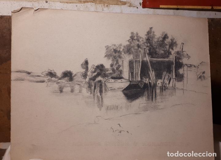 Arte: 16 DIBUJOS A LÁPIZ DE 1901. - Foto 4 - 211823437