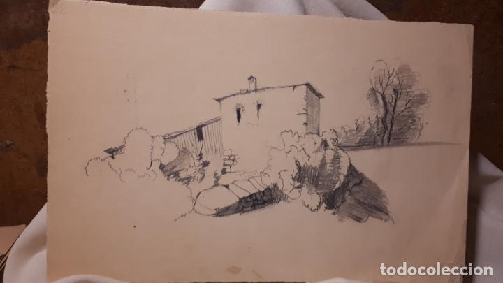 Arte: 16 DIBUJOS A LÁPIZ DE 1901. - Foto 10 - 211823437