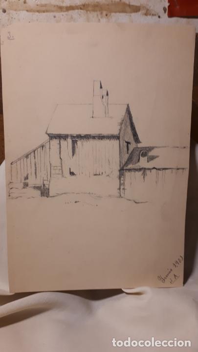 Arte: 16 DIBUJOS A LÁPIZ DE 1901. - Foto 11 - 211823437