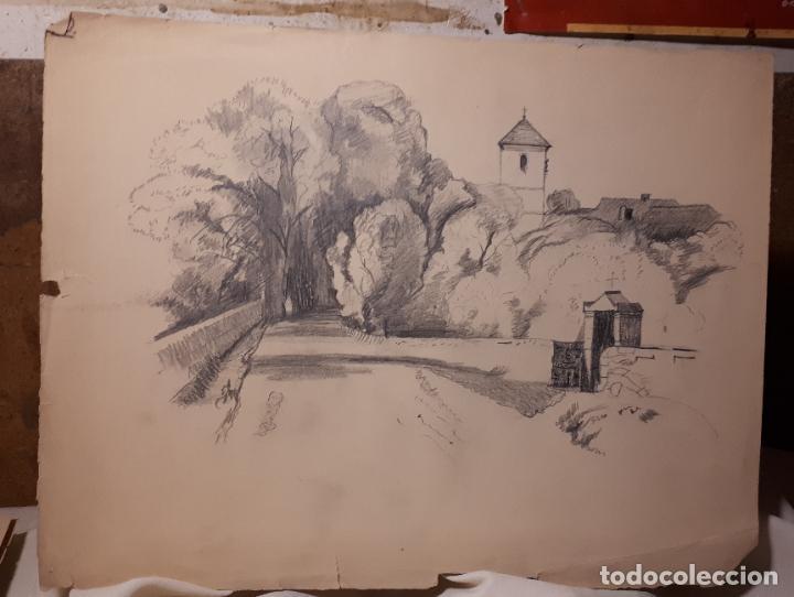 Arte: 16 DIBUJOS A LÁPIZ DE 1901. - Foto 12 - 211823437