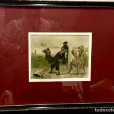Arte: DIBUJO HOLANDÉS PIETER VAN HUFFEL NAPOLEON EN EGIPTO FIN S.XVIII. Lote 211896362