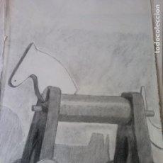 Arte: ORIGINAL. TRABAJOS DIBUJO. CABALLITO DE MADERA. MEDIDAS 50*30 CM. Lote 212095660
