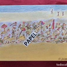Arte: DIBUJO ORIGINAL A PASTEL. FIRMADO. O. JUNYENT. Lote 212424840