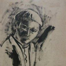 Arte: BENJAMIN PALENCIA (1894 - 1980) DIBUJO A TINTA (NIÑO) AÑO 1945. PROCEDENTE DE LA GALERIA LASSALETTA. Lote 212518961