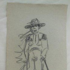 Arte: DIBUJO ORIGINAL : HOMBRE DEL CAMPO. LUQUE MANUEL FERNÁNDEZ (ÉCIJA 1919 - VALENCIA 2005). Lote 212524115