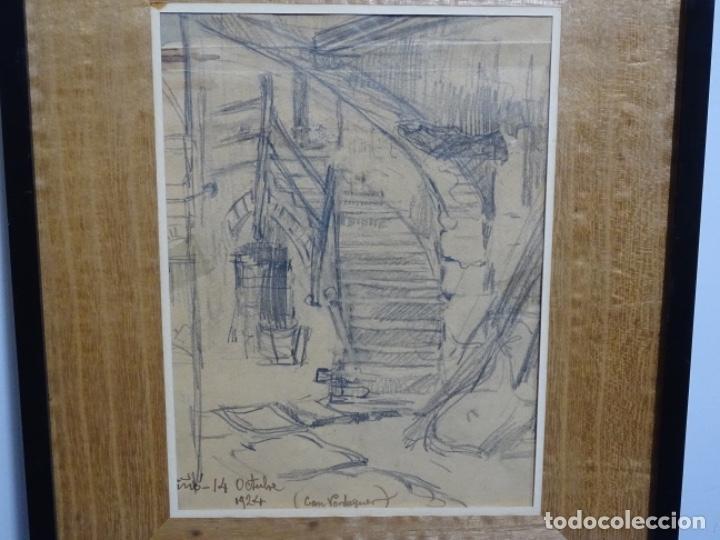 DIBUJO ANÓNIMO CAN VERDAGUER 1924. (Arte - Dibujos - Contemporáneos siglo XX)