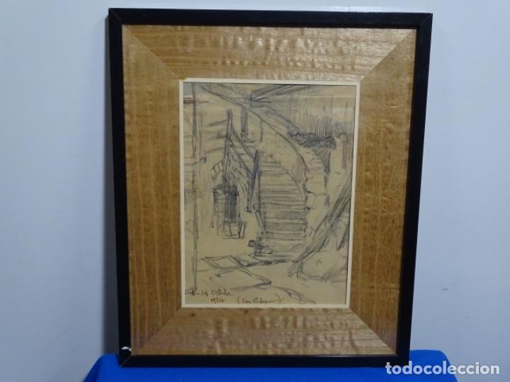 Arte: Dibujo anónimo can verdaguer 1924. - Foto 2 - 212769670