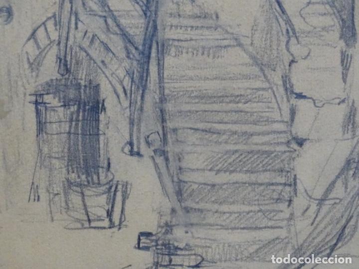 Arte: Dibujo anónimo can verdaguer 1924. - Foto 3 - 212769670