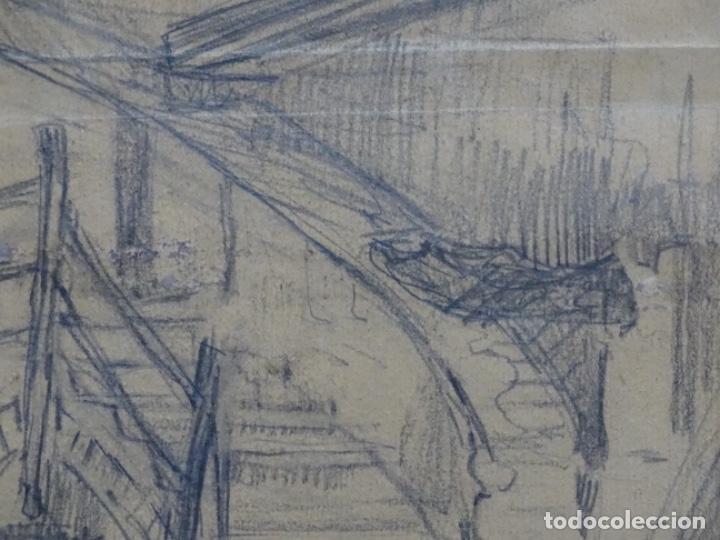 Arte: Dibujo anónimo can verdaguer 1924. - Foto 4 - 212769670