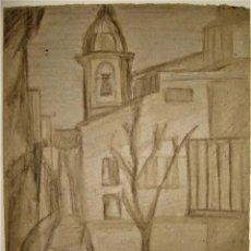 Arte: SANGUINA DE LA PLAZA DE SANTA CRUZ,ZARAGOZA.FIRMADO: J.B. Lote 212837567