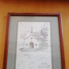 Arte: CAPELLA DE SANT ROC, BELLVER DE CERDANYA. DIBUJO DE ALEXANDRE CARDUNETS. LÁPIZ SOBRE PAPEL. 1933. Lote 212838728