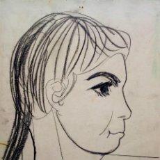 Arte: JORDI CURÓS CERAS/CARTULINA 35 X 25 CM. JOVEN. FIRMADO Y FECHADO. AÑOS 50.. Lote 212881317