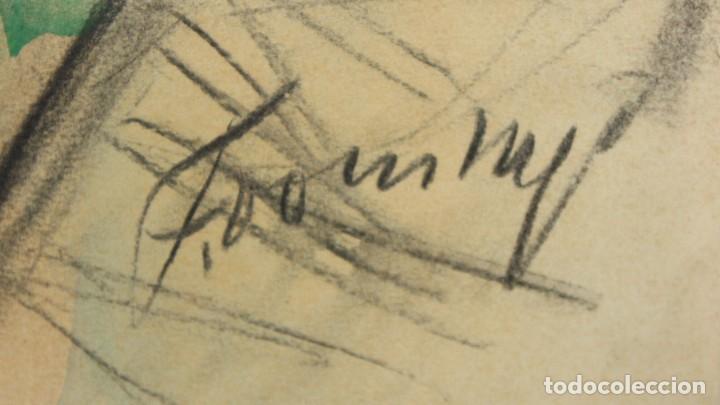 Arte: FRANCESC DOMINGO SEGURA (1895 - 1974) TECNICA MIXTA SOBRE PAPEL. MATERNIDAD - Foto 6 - 213130343