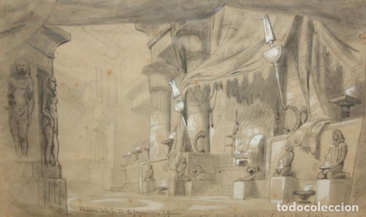 D'APRES DU CAMBON. ESCUELA FRANCESA DEL SIGLO XIX. LE JUGEMENT DE SALOMON (Arte - Dibujos - Modernos siglo XIX)