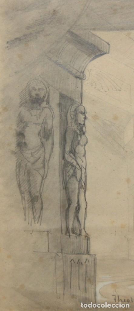 Arte: DAPRES DU CAMBON. ESCUELA FRANCESA DEL SIGLO XIX. LE JUGEMENT DE SALOMON - Foto 4 - 213131603