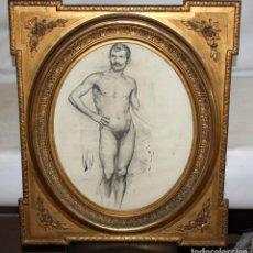 Arte: ANONIMO DE LA 2ª MITAD DEL SIGLO XIX. DIBUJO A DOBLE CARA CON ENCUADERNACION ISABELINA. Lote 213132871